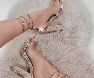 heels, shoes, and rose gold image