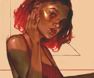 art, drawing, and melanin image