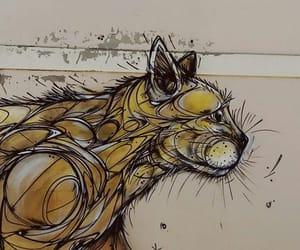 art, cat, and graffiti image