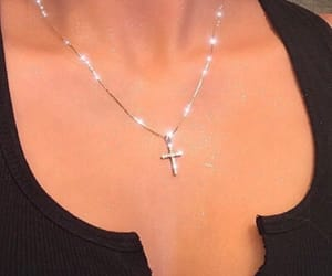 cross, jewellery, and necklace image