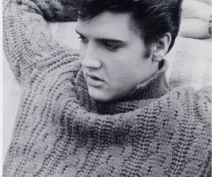 elvis, Elvis Presley, and black and white image