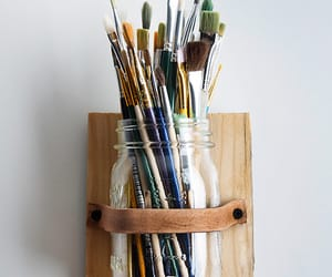 art, Brushes, and painting image