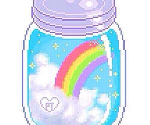 pixel, rainbow, and overlay image