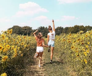 besties, girl, and friends image