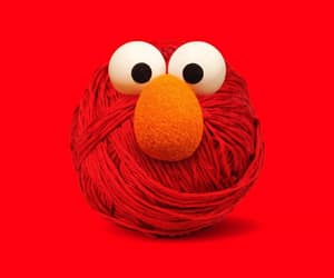 art, elmo, and red image