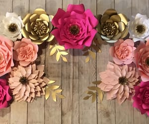 inspiration, paper flowers, and paper roses image
