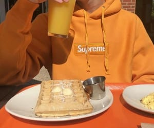orange, supreme, and fashion image