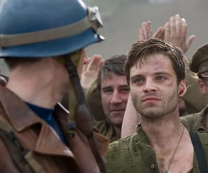 bucky barnes, captain america, and sebastian stan image