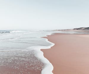 beach, landscape, and water image