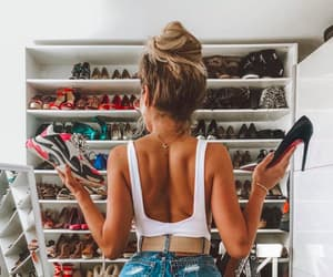 blonde, girl, and messy bun image