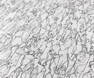 art, drawing, and human image