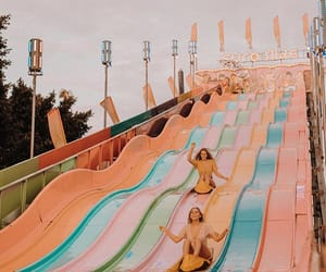 summer, happy, and slide image