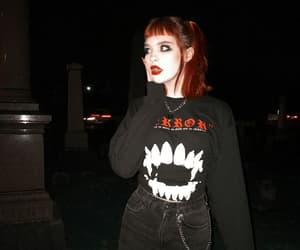girl, goth, and hair image