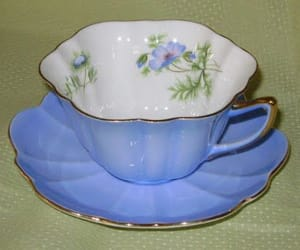 blue, cups, and tea image