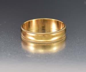band, wedding, and gold image