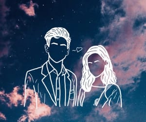 couple, dreamy, and space image