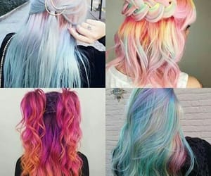 color, hair, and pelo image