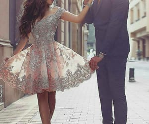couple, dress, and fashion image