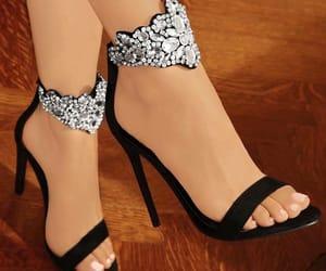 black heels, heels, and shoes image