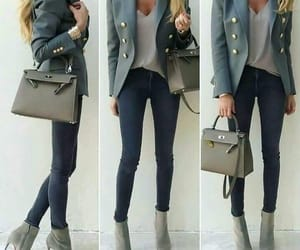 coat, heels, and outfits image