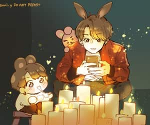 art, bunny, and art drawing image