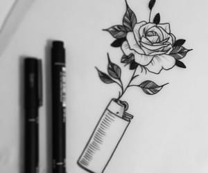 art, dibujo, and tattoo image