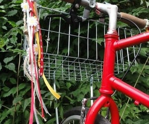 red and bycicle image