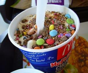 food, ice cream, and mcflurry image