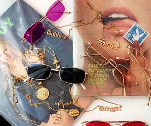 sunglasses, gold, and vintage image