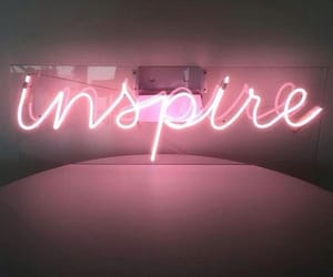 pink, inspire, and neon image