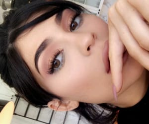 kim, makeup, and lashes image