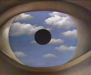 art, eye, and sky image