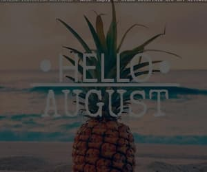 August, summer, and welcome image