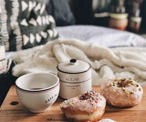 coffee, donuts, and breakfast image