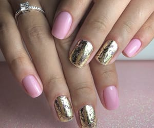 gold, paris, and ongle image