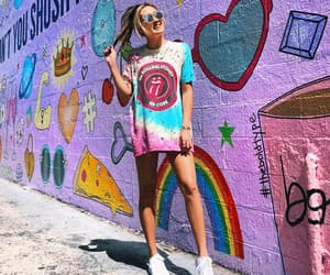 bright colors, purple wall, and wall image