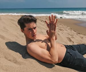 beach, handsome, and Sandy image