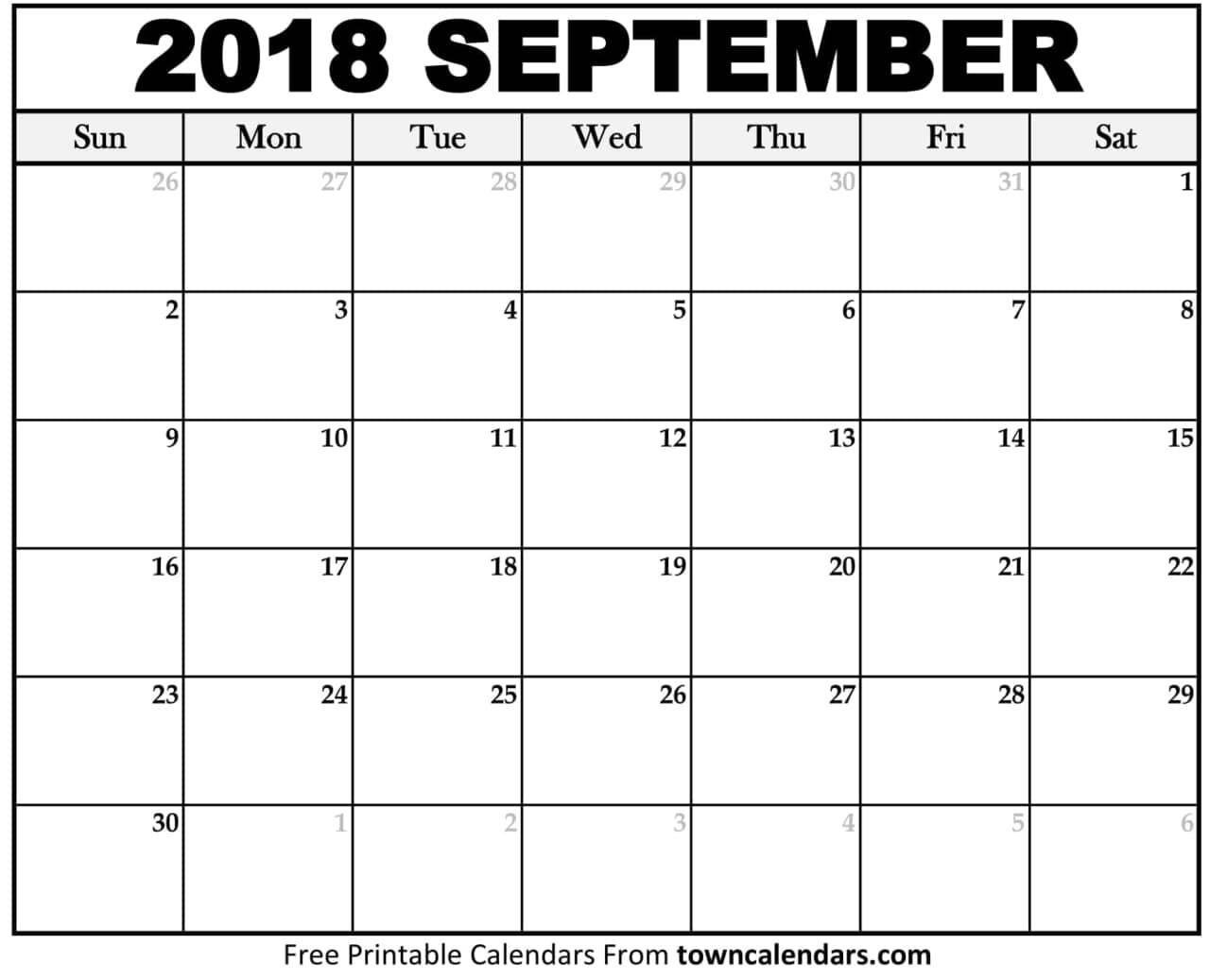 September Calendar.September 2018 Calendar On We Heart It