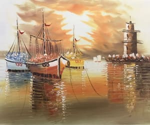 realistic painting, seascape art, and buy art image