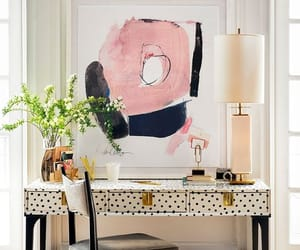 black, pink, and table image