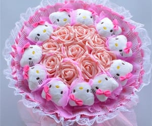 bouquet, flower, and hello kitty image