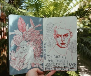 drawing, journal, and sketchbook image