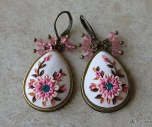 art jewelry, earrings, and etsy image