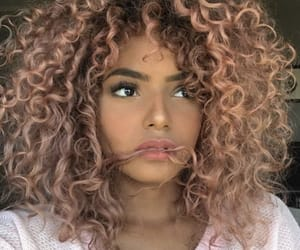 beauty, pink girly, and curly hair image