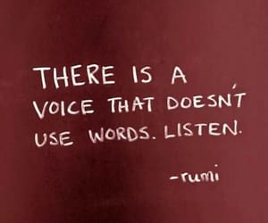 quotes, words, and listen image