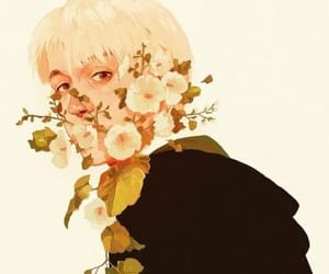 draco malfoy, drawing, and flowers image