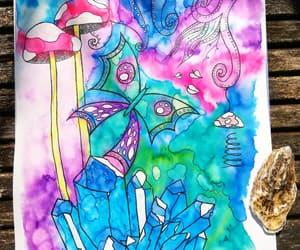 art, mushrooms, and staedtler image