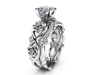 diamond, princess cut, and etsy image