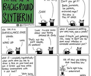 comic, harry potter, and background slytherin image