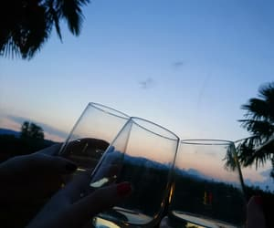 drinks, landscape, and night image